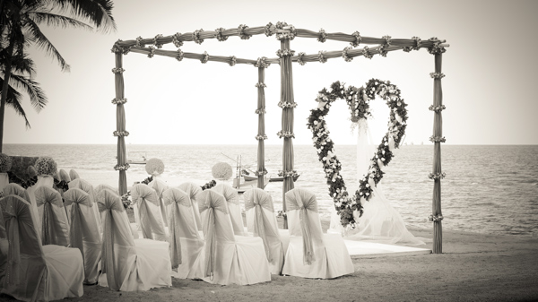 wedding venue on the beach